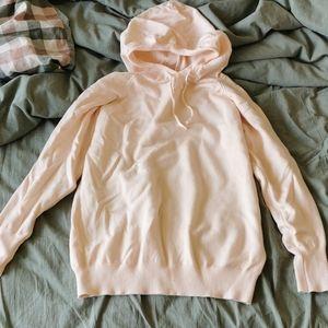soft baby pink hoodie sweatshirt